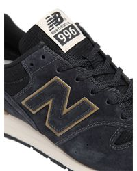 New Balance | Blue 996 Mesh & Suede Sneakers | Lyst