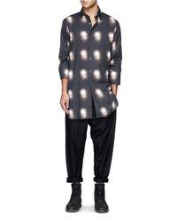Ann Demeulemeester - Black Spotlight Print Cotton Shirt for Men - Lyst