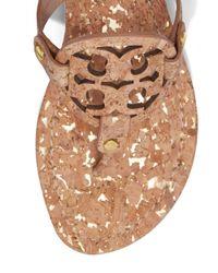 Tory Burch - Natural Miller Sandal, Cork - Lyst