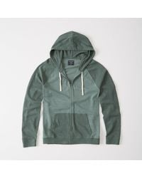 Abercrombie & Fitch - Green Colorblock Full-zip Hoodie for Men - Lyst