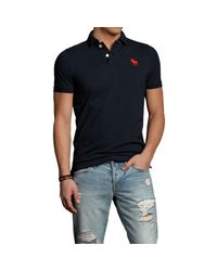 Abercrombie & Fitch | Black Bear Brook Polo for Men | Lyst