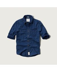 Abercrombie & Fitch - Blue Beaver Meadows Shirt for Men - Lyst