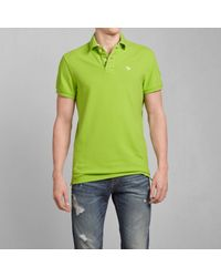 Abercrombie & Fitch - Green Classic Fit Polo for Men - Lyst