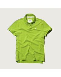 Abercrombie & Fitch | Green Classic Fit Polo for Men | Lyst