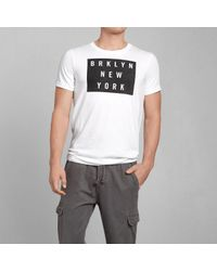 Abercrombie & Fitch - White Graphic Tee for Men - Lyst