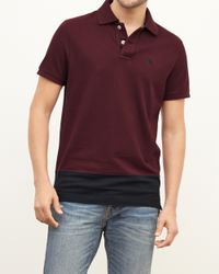 Abercrombie & Fitch - Purple Chest Stripe Polo for Men - Lyst