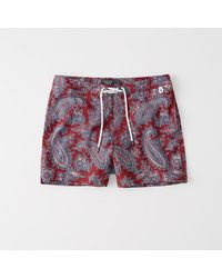 Abercrombie & Fitch - Red A&f Archive Collection Classic Trunks for Men - Lyst