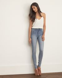 Abercrombie & Fitch - Blue High Rise All-way Stretch Super Skinny Jeans - Lyst