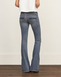 Abercrombie & Fitch - Blue Flare Jeans - Lyst