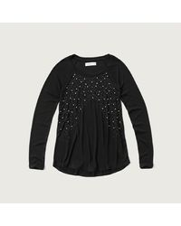 Abercrombie & Fitch - Black Beaded Knit With Shine - Lyst