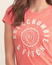 Abercrombie & Fitch - Black Applique Logo Graphic Tee - Lyst