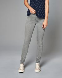 Abercrombie & Fitch - Gray Super Skinny Jeans - Lyst