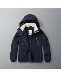 Abercrombie & Fitch | Blue Hard Shell Performance Jacket | Lyst