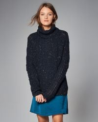 Abercrombie & Fitch - Blue Cable Turtleneck Sweater - Lyst