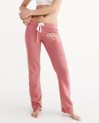 Abercrombie & Fitch - Pink Skinny Sweatpants - Lyst