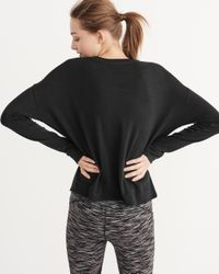 Abercrombie & Fitch   Black Active Long-sleeve Twist Tee   Lyst