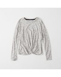 Abercrombie & Fitch | Gray Active Long-sleeve Twist Tee | Lyst