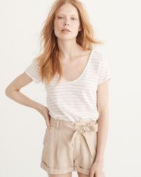 Abercrombie & Fitch - Multicolor Relaxed V-neck Tee - Lyst