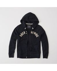 Abercrombie & Fitch - Blue Graphic Full-zip Hoodie for Men - Lyst