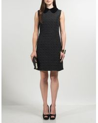 Aftershock Black Deyba Quilted Dress