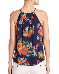 Joie | Multicolor Anatese B Floral Ikat-print Top | Lyst