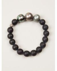Samira 13 - Black Multisize Pearl Bracelet - Lyst