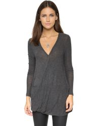 Free People - Gray Miss Rose Blouse - Dark Grey Heather - Lyst