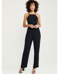 Abercrombie & Fitch Black Overall 'XM19-BOW BACK JUMPSUIT 2CC'
