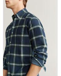 Mango Hemd 'pael' in Blue für Herren