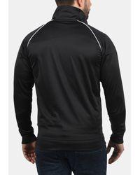 Solid Trainingsjacke 'Leander' in Black für Herren