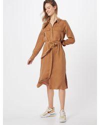 Object Brown Blusenkleid