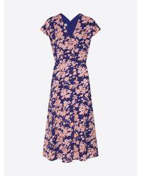Rene' Lezard Blue Kleid 'E055A'