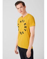 Q/S designed by T-Shirt in Yellow für Herren