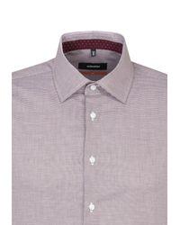 Seidensticker Hemd in Purple für Herren