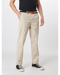 SELECTED Hose 'SLHSLIM-YARD SILVER LINING PANTS W' in Natural für Herren