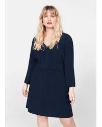Violeta by Mango Blue Kleid 'Chainy5'