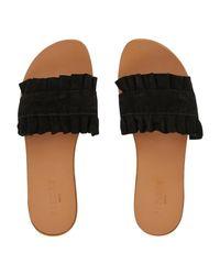 Pieces Black Pantolette