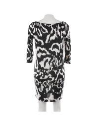 Diane von Furstenberg Black Seidenkleid