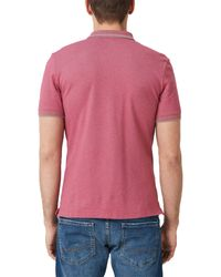 S.oliver Poloshirt in Pink für Herren