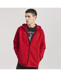 PUMA Sweatjacke 'Ferrari' in Red für Herren