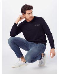 Lee Jeans Shirt 'LS GRAPHIC CREW' in Black für Herren