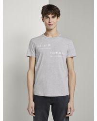 Tom Tailor Denim T-Shirt in Gray für Herren