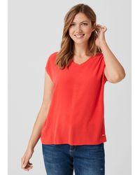 Triangle Red Blusenshirt