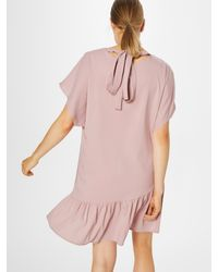 Lost Ink Pink Kleid 'Frill Front & Hem Shift Dress'