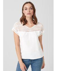 S.oliver White Blusenshirt