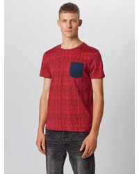 Tom Tailor Denim Shirt in Red für Herren