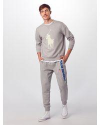 Polo Ralph Lauren Sweatshirts 'DOUBLE KNIT TECH-LSL-KNT' in Gray für Herren