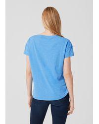 S.oliver Blue Lässiges Flammgarnshirt