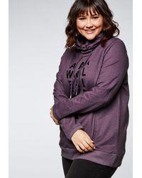 Sheego Purple Sweatshirt
