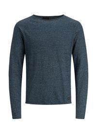 Produkt Rundhalsausschnitt-Strickpullover in Blue für Herren